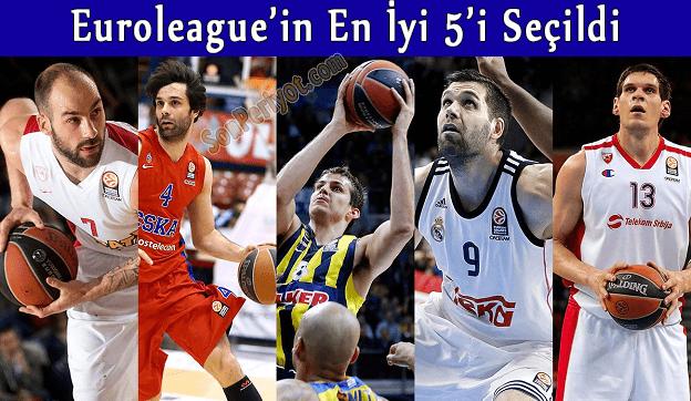 Euroleague'in En İyi 5'i Seçildi Peki MVP Kim Olacak