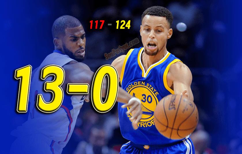 Warriors, Clippers'ı da Yendi ve 13-0 Yaptı; Rekora Gidiyor