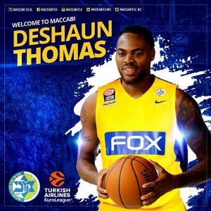 Deshaun Thomas, Maccabi FOX Tel Aviv ile Anlaştı