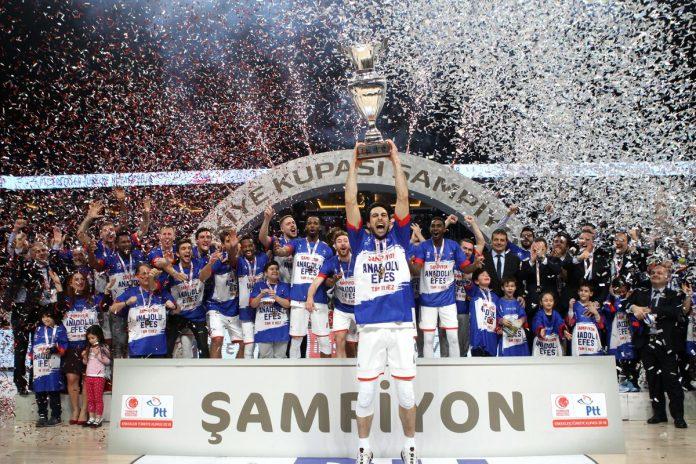 Türkiye Kupası Şampiyonu Anadolu Efes