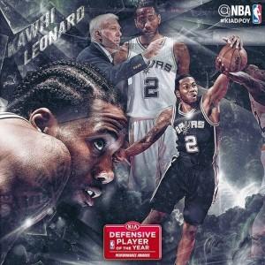 NBA'de Yılın Savunmacısı Kawhi Leonard Oldu